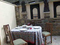 Holt Bank external dining self catering, holiday let