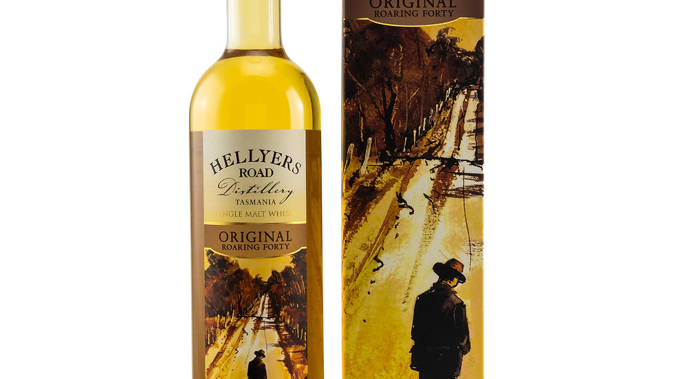 Hellyers Road Original Roaring Forty Flasche mit Verpackung