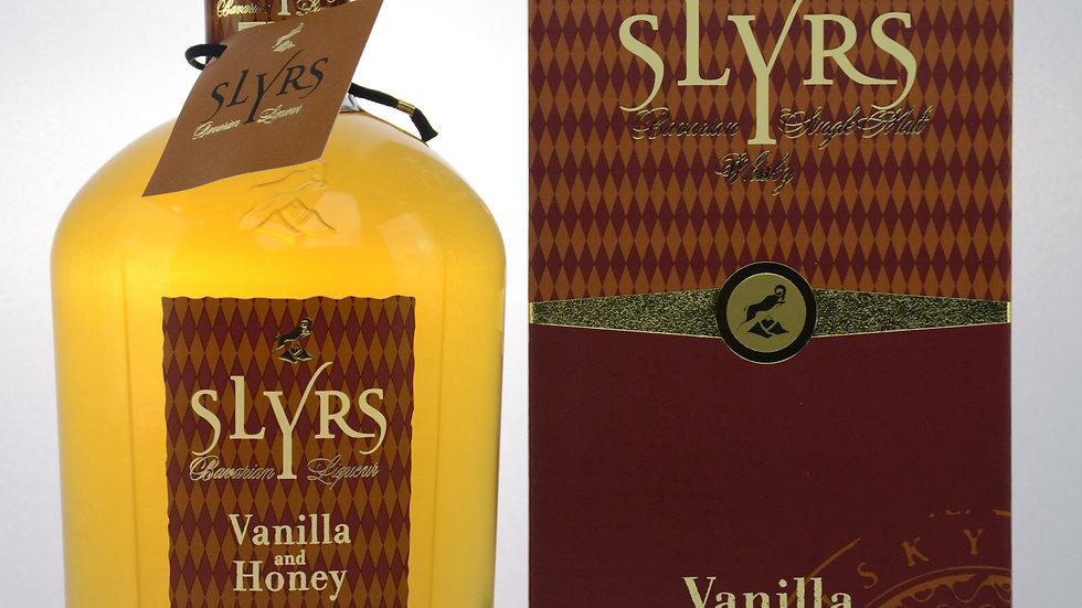 Slyrs Whisky-Liqueur / Vanilla and Honey Vorderseite