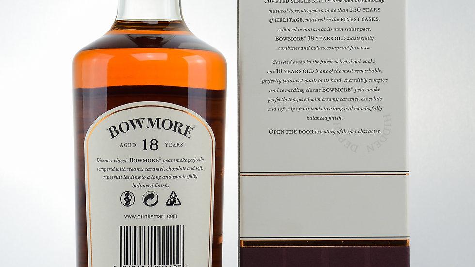 Bowmore 18 Jahre Rückseite
