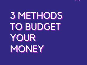 Three Ways to Budget your Money
