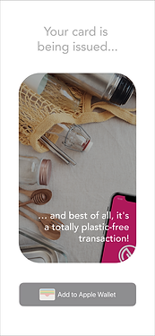 Plastic free payment
