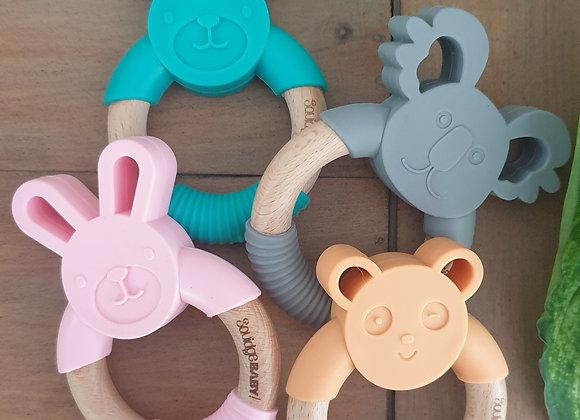 Animal wooden teething rings
