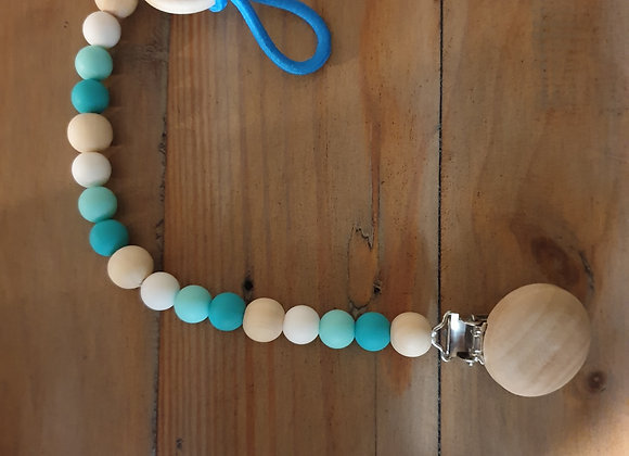 Pacifier clip - teal