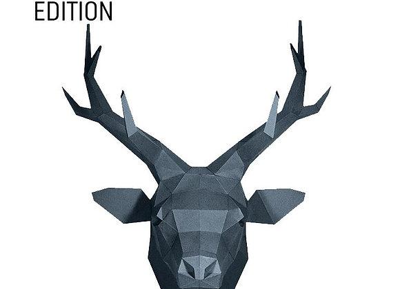 Origami Deer head wall art (grey sapphire)