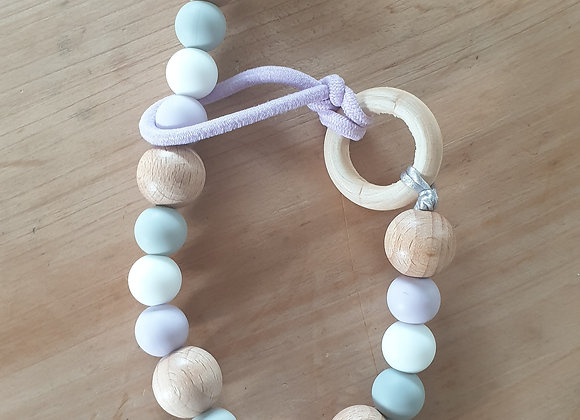 Soother clip - pastel heart