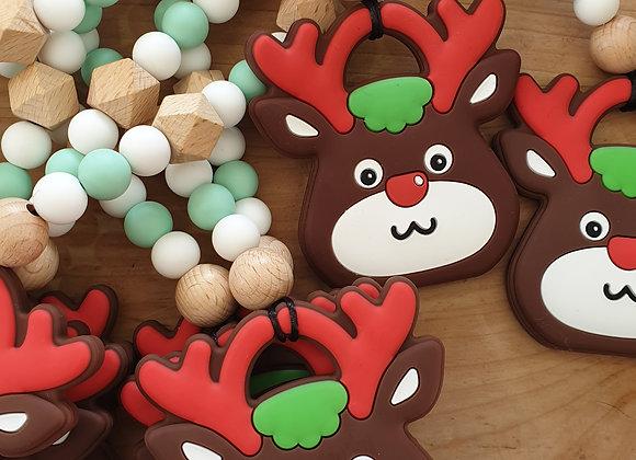 Xmas reindeer teether