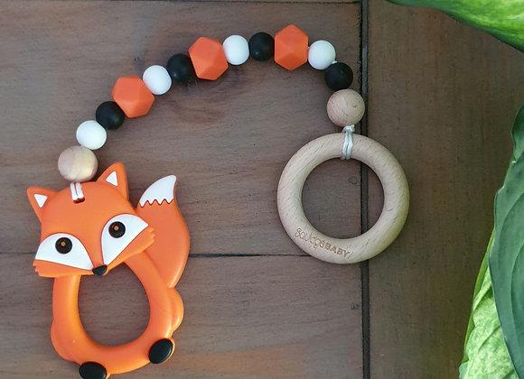Orange fox teether