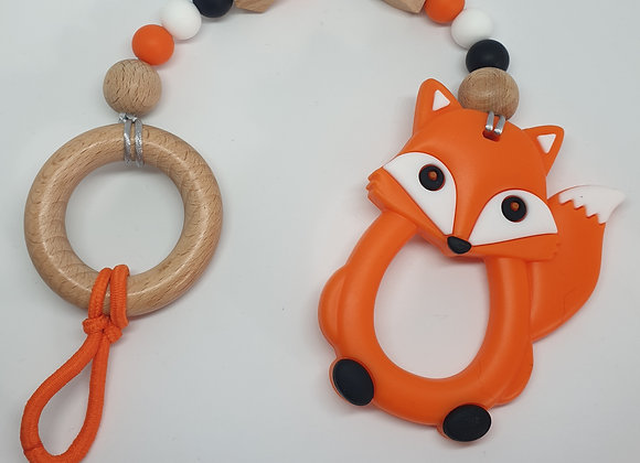 Orange fox teether