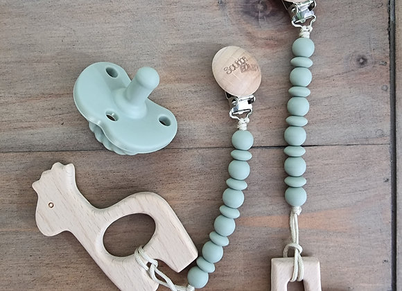 Soother teether clip