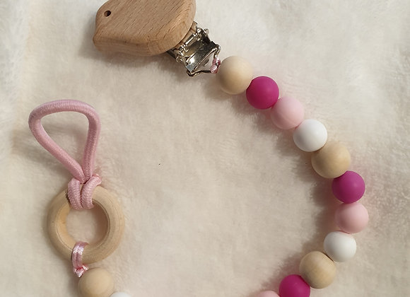 Pacifier clip - pinks