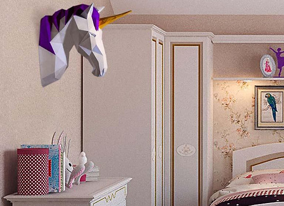 Origami Unicorn wall art