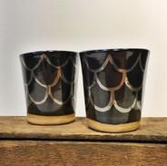 Dark Mermaid cups 22k White Gold