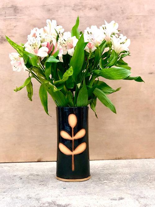Black Leaflet Vase