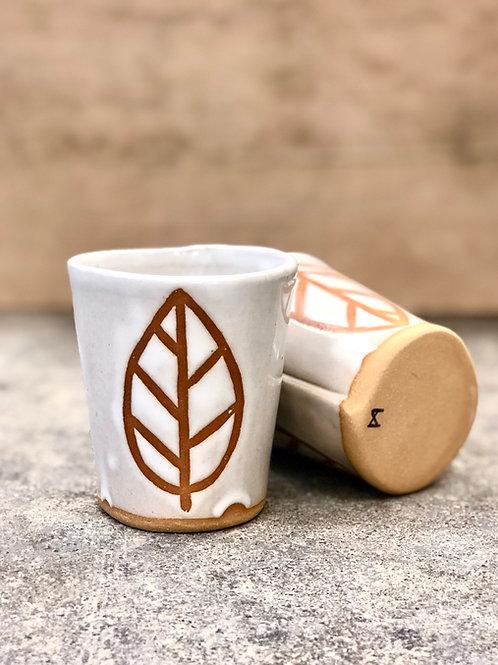 White leaf cup