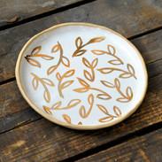 22k Gold leaves plate