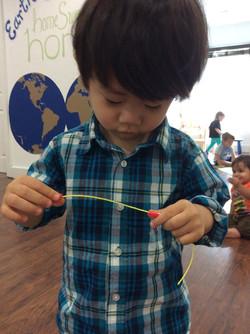 Preparing our hand model materials