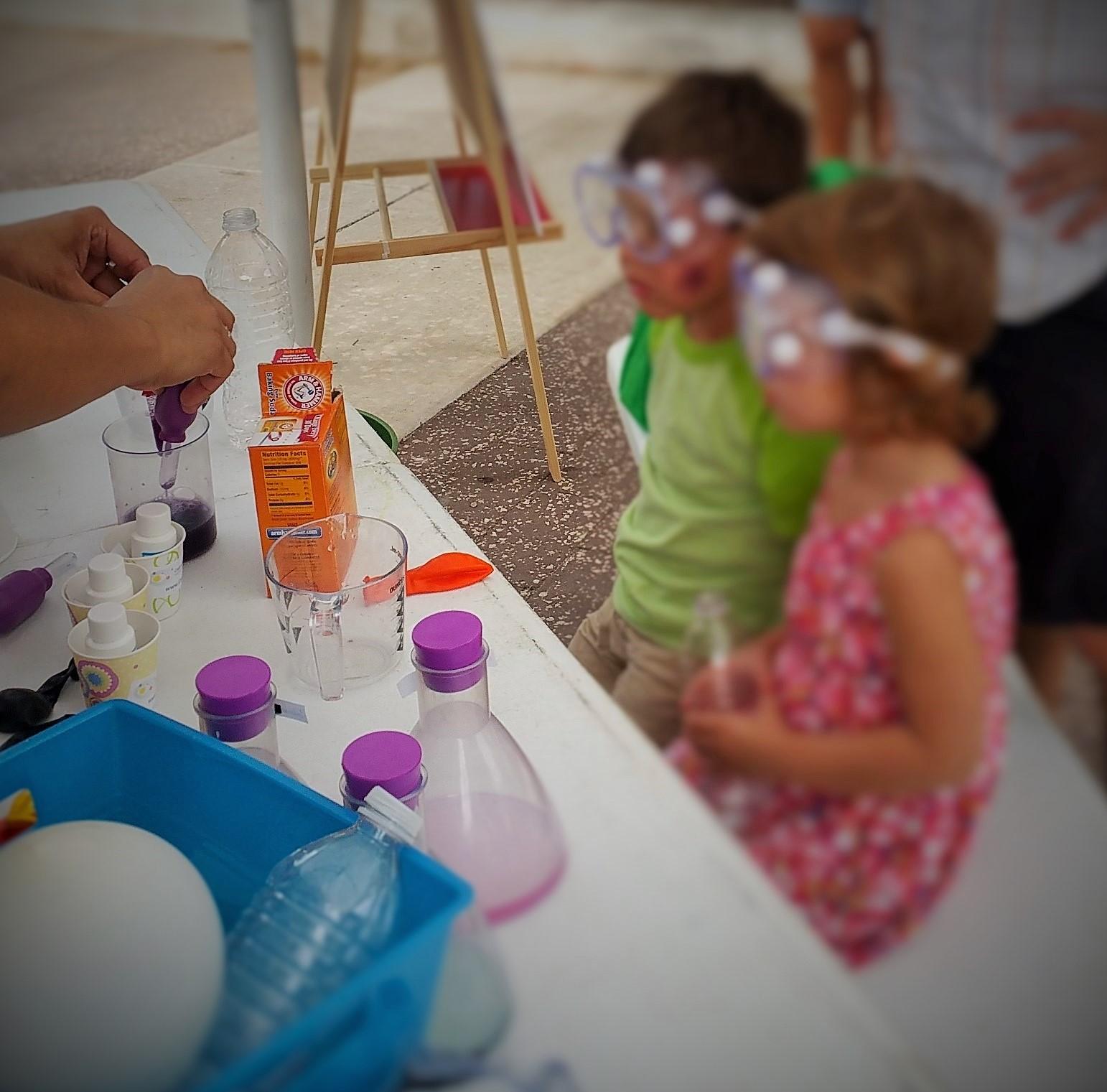 Tiny Chemists at Farmers Market