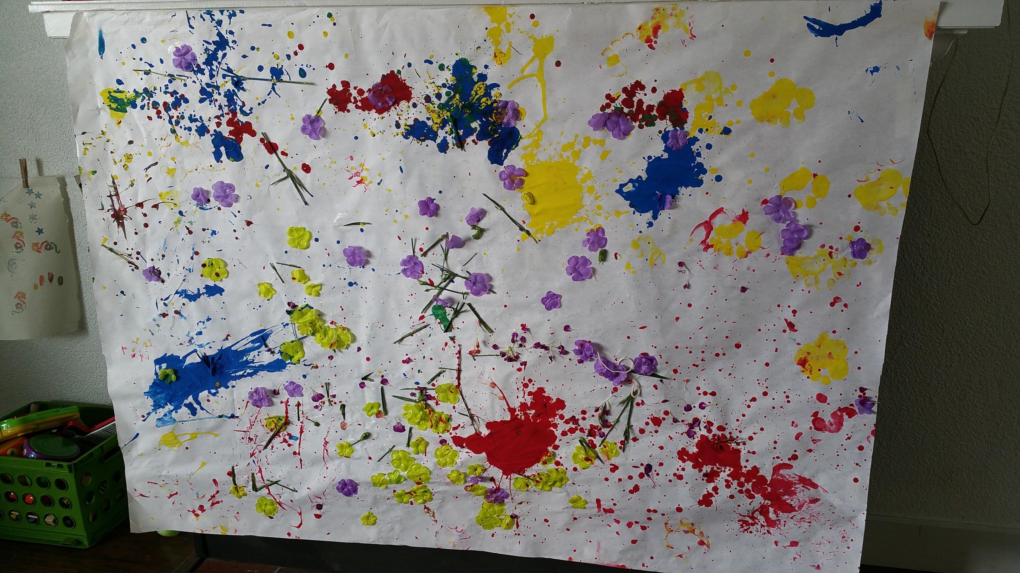 Kids' Pollock Inspired Piece!