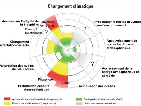 Perturbation des cycles de l'azote et du phosphore par rapport aux limites planétaires