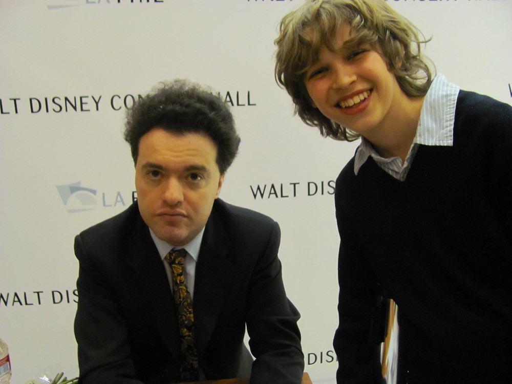 Meeting Evgeny Kissin at Disney concert hall. He  had 7 encores and played a different piece each time.