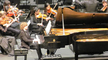 Tristan at Royce Hall with Misha Dictor playing Carnival of the Animals by Saint Saens with the YMF