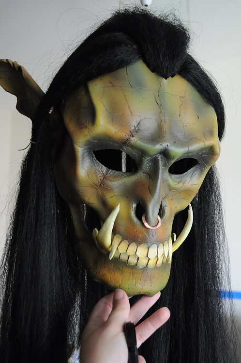 Leather Orc Mask (Green)