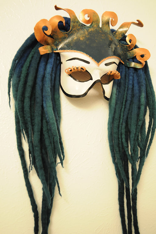 "One of a Kind Halfmask. ""The Siren"""