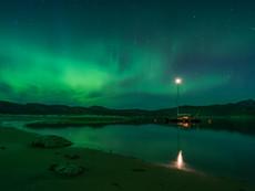 Mitternacht bei Nordlicht