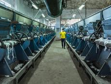 Kirgistan - Baumwollverarbeitung