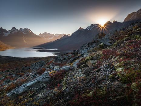 Sonnenaufgang am Tasermiut Fjord