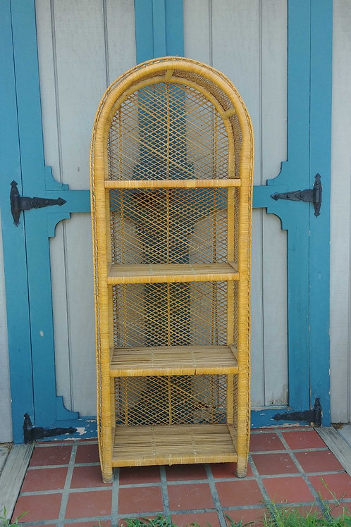 Vintage Wicker Etagere