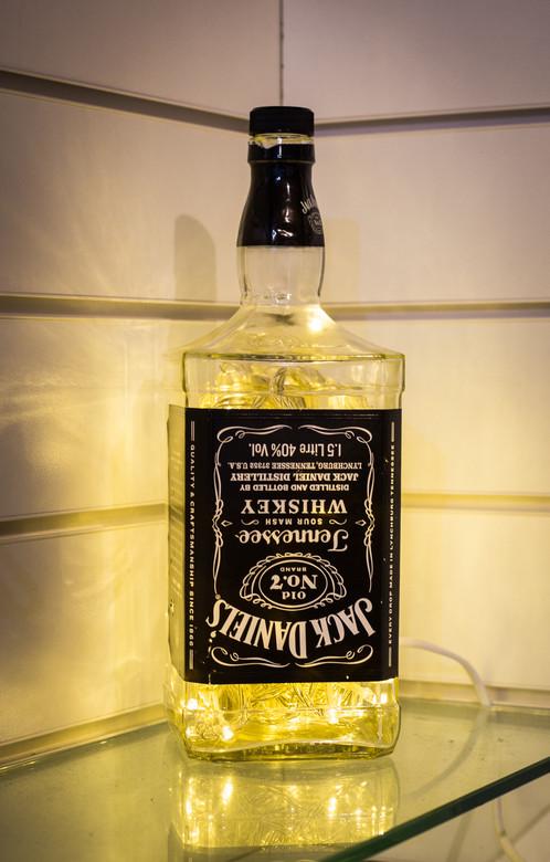 Jack Daniels Bottle Lights - Easy Craft Ideas