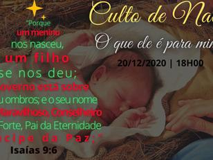 Culto de Natal - 20/12/2020 - 18h