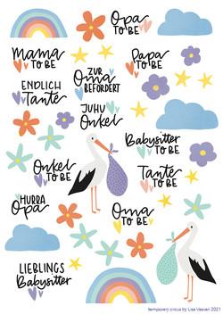 stickersheet Babyshower A6