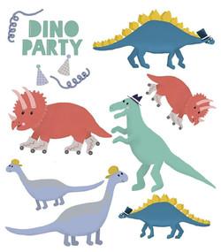 Dinoparty - Klebetattoos