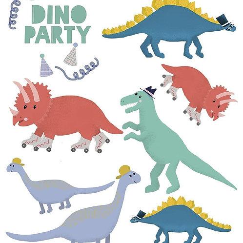 "Temporäres Tattoo Set ""Dino Party"""