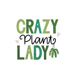 crazy plant lady- temporary tattoo