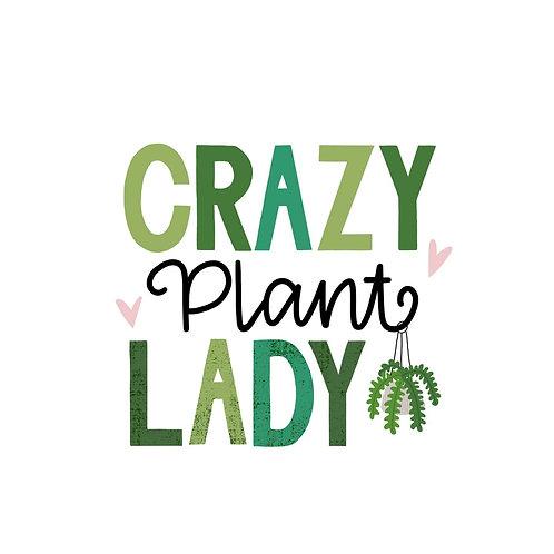 "Temporäres Tattoo Set ""Crazy Cat Lady / Crazy Plant Lady"""
