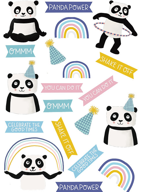 temporäres tattoo, klebetattoo, pandabären, kinder, vegan