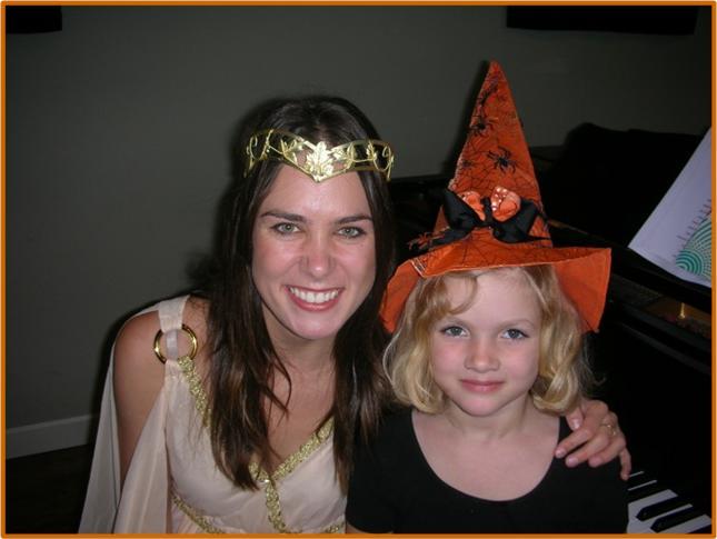 Sara and Alexis Halloween