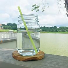 Green, biopolymer straw