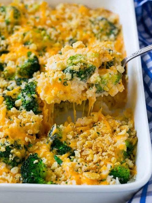 Broccoli and Vegan Cheese Bake