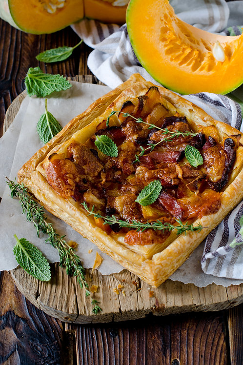 Pumpkin, Fennel and Sage Tarts
