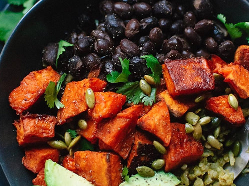 Black Bean/Sweet Potato Buddha Bowl