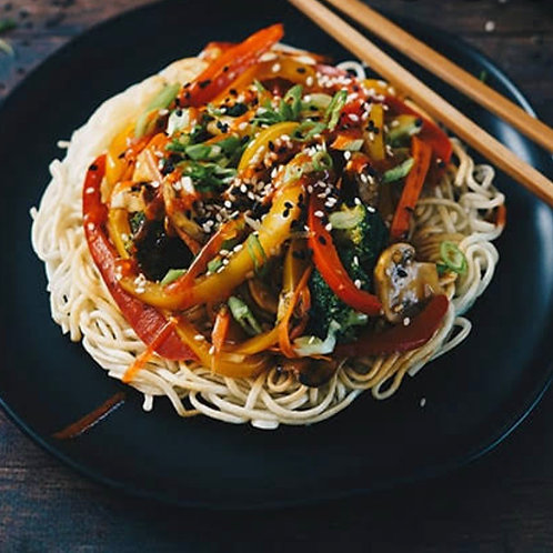 Crispy Asian Noodle/Vegetable Baskets