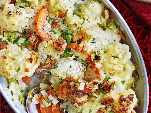 Sweet Potato and Cauliflower Bake