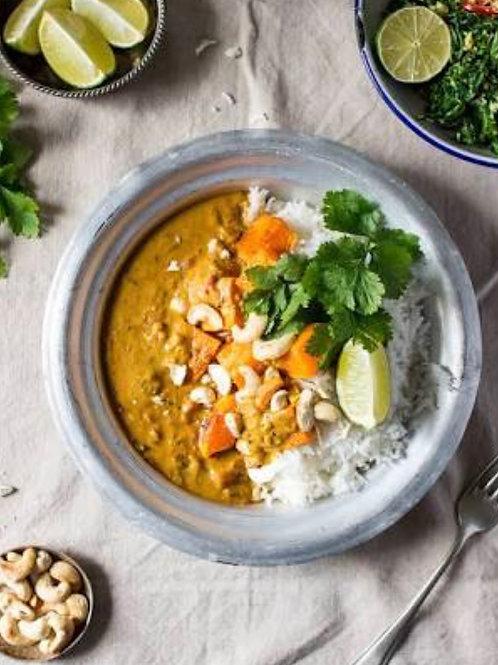 Roast Pumpkin, Tofu and Coconut Curry