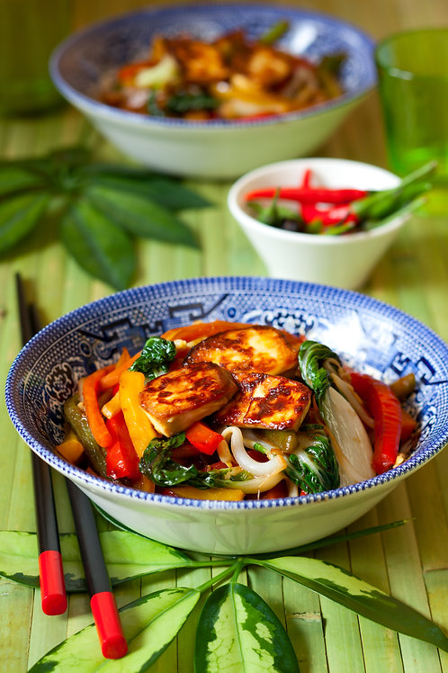 Fiery Burmese Tofu Stir Fry