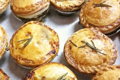 Spinach, Sweetcorn and Cashew Nut Pies